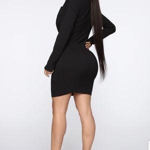 Fashiona Nova Black Blazer dress